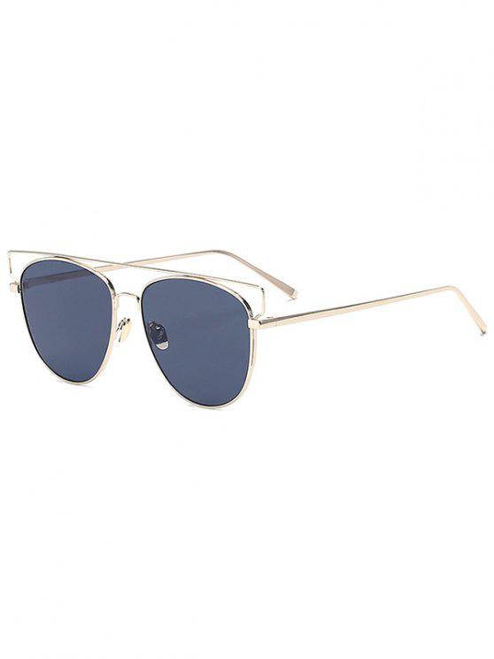 unique Gold Crossbar Pilot Sunglasses - GOLDEN