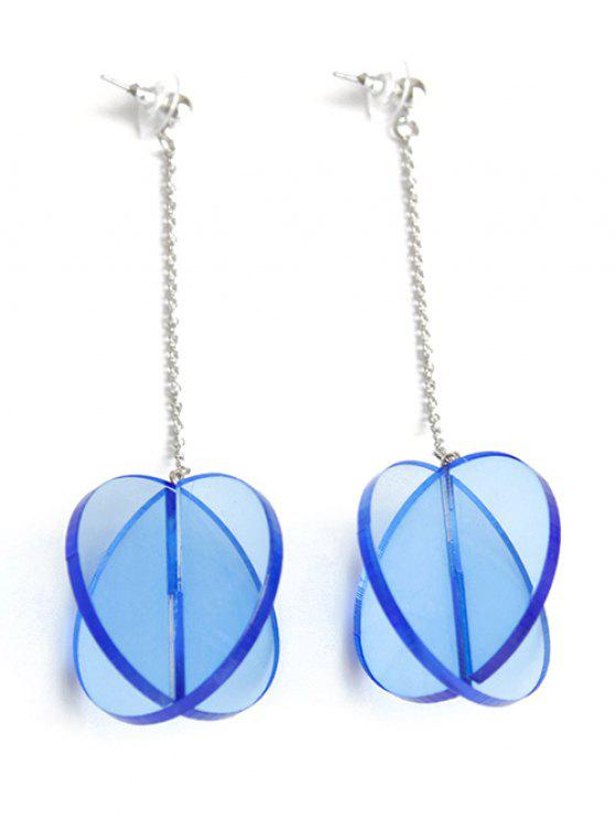 outfits Translucent Drop Earrings - BLUE
