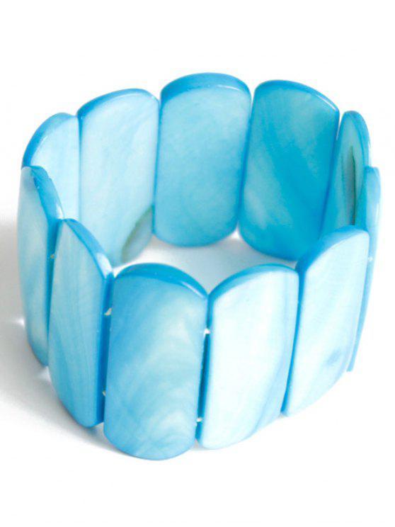 Bracelet élastique géométrique - Bleu