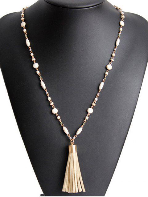 Fringe collar de la cadena del grano - Dorado  Mobile