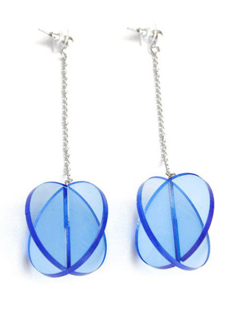 outfits Translucent Drop Earrings - BLUE  Mobile