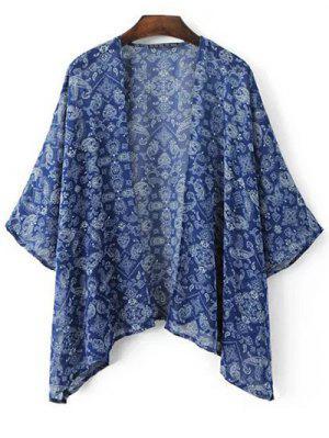 Cashew-Druck 3/4 Hülse Kimono