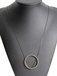 بسيطة دائرة قلادة - ذهبي