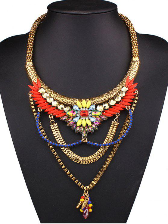 Collier Déclaration strass Layered - Multicolore
