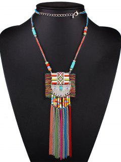 Boho Bead Tassel Layered Necklace
