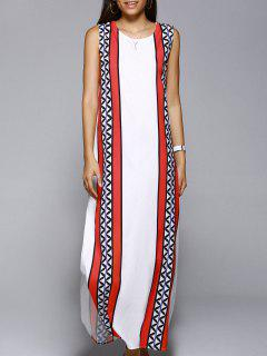 Haut Robe Fendue Longue - Blanc S