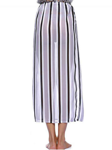 shop Striped Flowy Slit Dress - COLORMIX M Mobile
