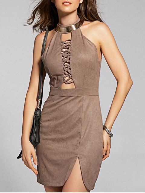 Mini-robe Suede - Brun XL Mobile