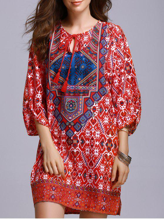 Vestido de campesino roja - Rojo M