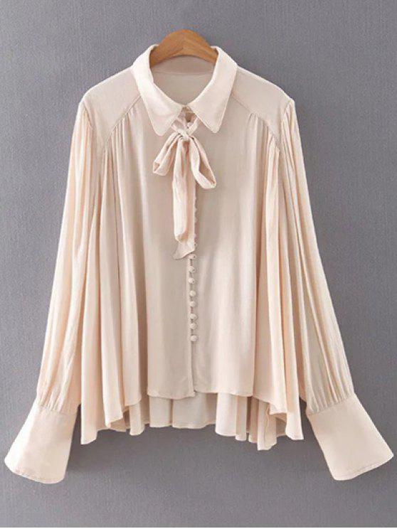 sale Long Sleeve Flowy Shirt - APRICOT M