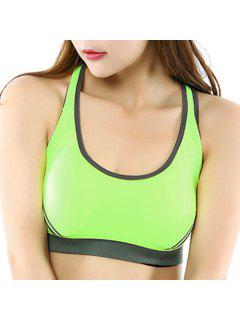 Criss-Cross Sports Bra - Yellow S