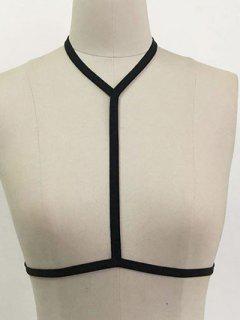 Cupless Harness Bra - Black S