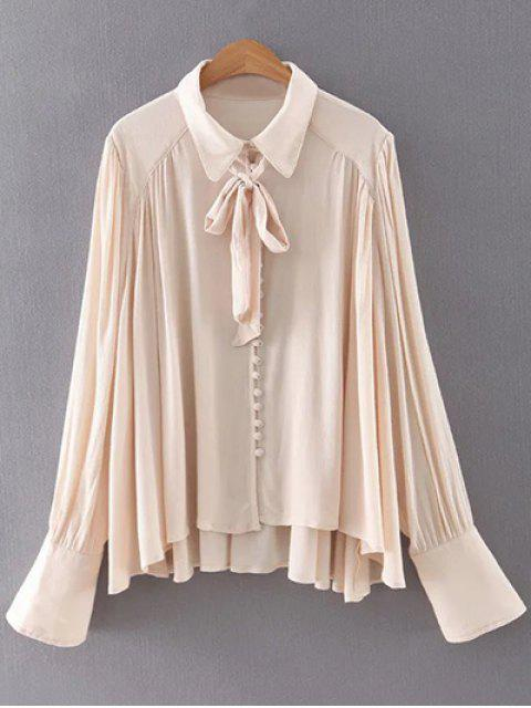 sale Long Sleeve Flowy Shirt - APRICOT M Mobile