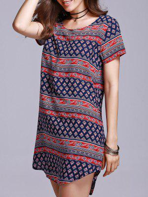 Vintage Print Shift Dress - S