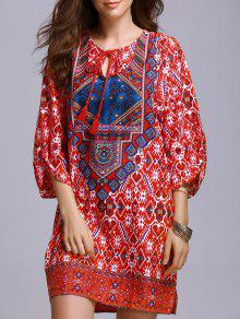 Red Peasant Dress - Red S