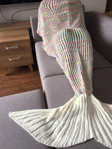 المألوف شريط تصميم حورية البحر الذيل الشكل الحياكة بطانية للكبار