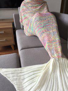 أنيق ملون الكروشيه الحياكة حورية البحر الذيل تصميم النوم بطانية للبالغين