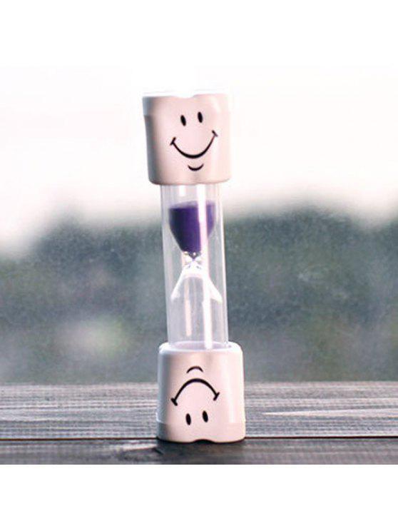 الإبداعية الوجه المبتسم 5 دقيقة فرشاة الأسنان الموقت الساعة الرملية للأطفال - أرجواني
