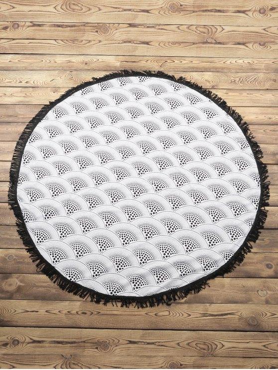 Ronda de flecos encubrimiento - Blanco Un tamaño(Montar tam
