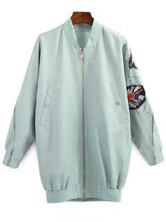Patched Green Jacket - Green Xxs