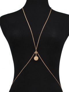 Crossed Coin Body Chain - Golden