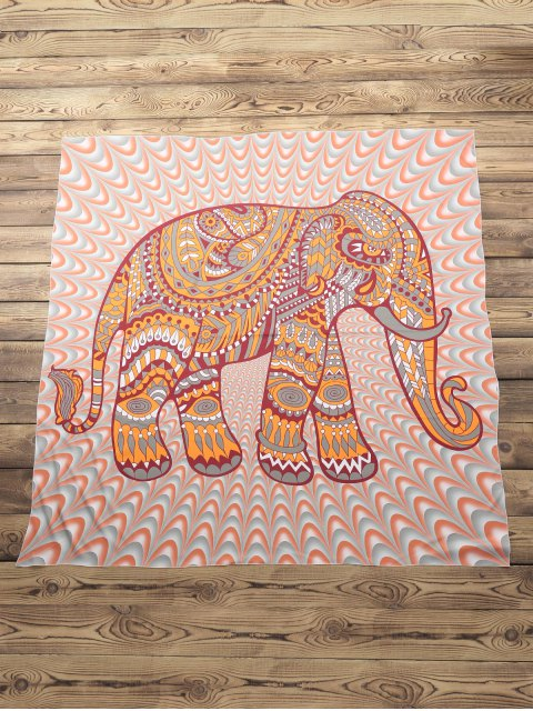 hot Elephant Print Beach Throw - COLORMIX ONE SIZE(FIT SIZE XS TO M) Mobile