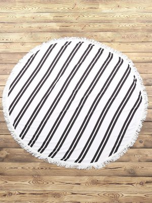 Striped Plage Serviette ronde