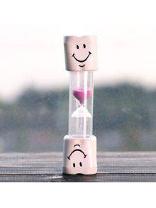 الإبداعية الوجه المبتسم 5 دقيقة فرشاة الأسنان الموقت الساعة الرملية للأطفال - زهري