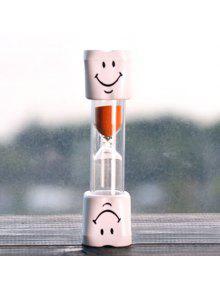 الإبداعية الوجه المبتسم 5 دقيقة فرشاة الأسنان الموقت الساعة الرملية للأطفال - البرتقالي