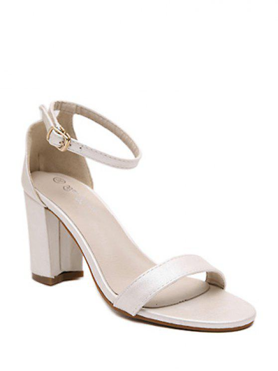 5865e756a77 40% OFF  2019 Chunky Heel Ankle Strap Sandals In OFF-WHITE