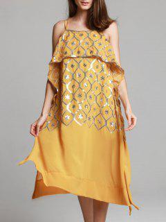 Élégant Sequind Cami Maxi Robe Pour Les Femmes - Terreux S