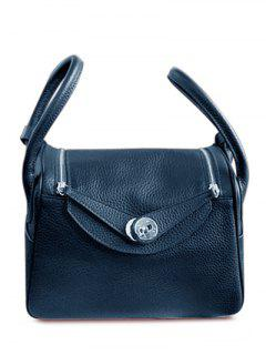 Double Zips PU Leather Tote Bag - Black