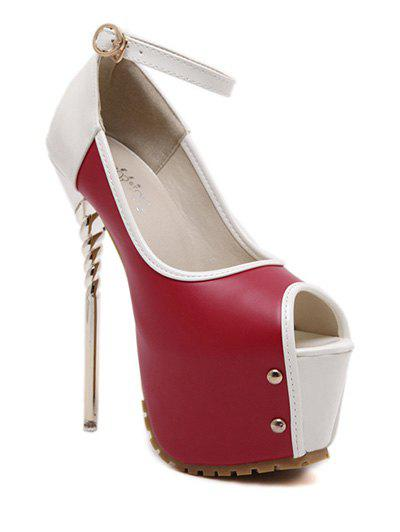 Ankle Strap Platform Peep Toe Shoes 188215303