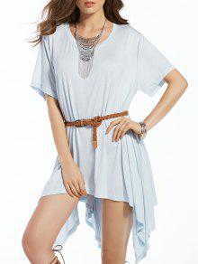 Bawting Vestido Irregular De La Manga - Azul S
