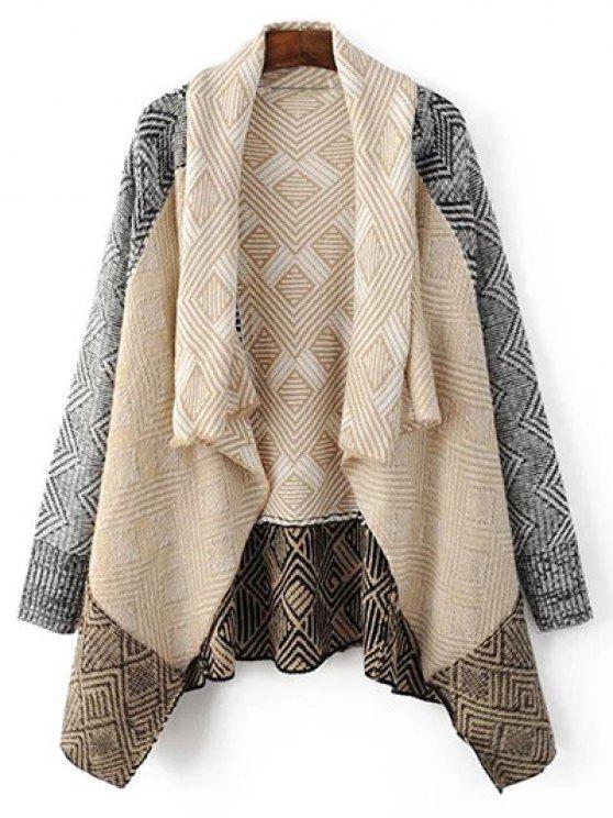 online Argyle Shawl Collar Cardigan - LIGHT APRICOT M