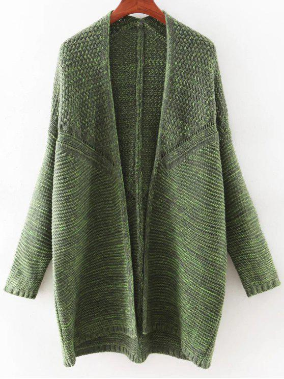 sale Open Front Batwing Cardigan - GREEN ONE SIZE(FIT SIZE XS TO M)