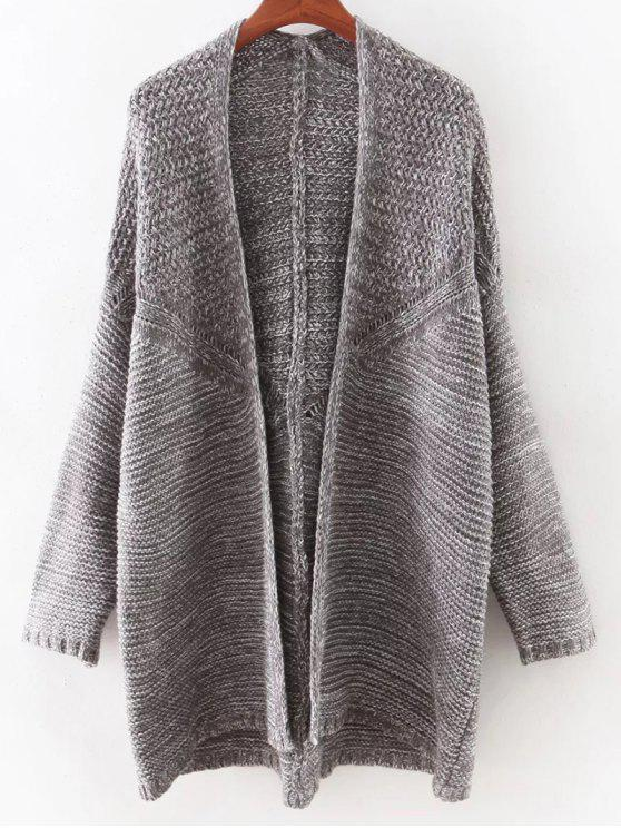 buy Open Front Batwing Cardigan - GRAY ONE SIZE(FIT SIZE XS TO M)