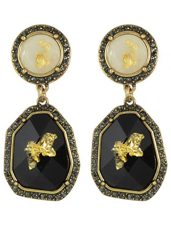 affordable Rhinestone Irregular Earrings - BLACK