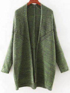 Open Front Batwing Cardigan - Green