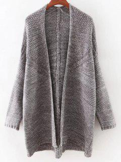 Open Front Batwing Cardigan - Gray
