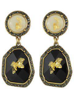 Pendientes De Diamantes De Imitación Irregular - Negro