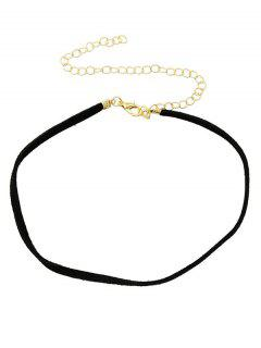 Adjustable Velvet Chokers Necklace - Black