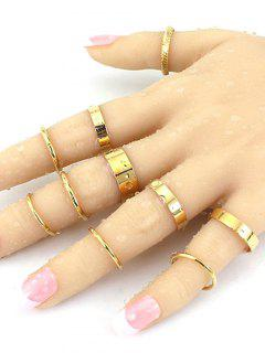 Simple Solid Color Rings - Golden One-size