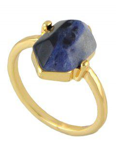 Vintage Geometric Stone Ring - Golden