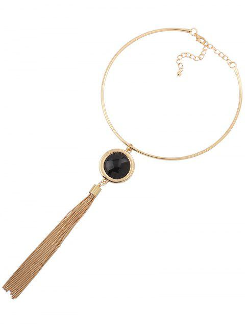 online Faux Gem Tassel Torques -   Mobile
