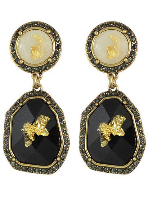 affordable Rhinestone Irregular Earrings - BLACK  Mobile