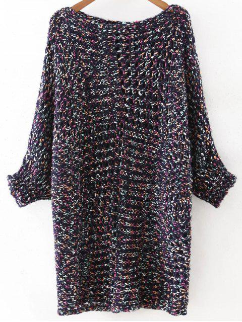 womens Mixed Color Chunky Sweater - BLUE ONE SIZE(FIT SIZE XS TO M) Mobile