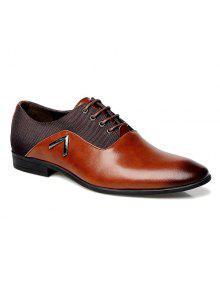 أزياء الربط و الدانتيل متابعة تصميم الرسمي أحذية للرجال - بني محمر 44