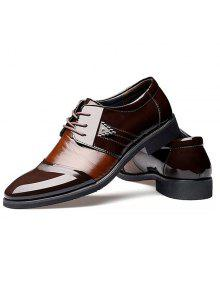 b3696d04ed9b 43% OFF] 2019 Fashion Patent Leather And Lace-Up Design Formal Shoes ...