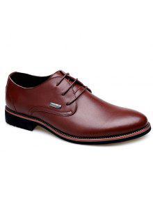 بسيطة وأشار اصبع القدم و الدانتيل متابعة تصميم أحذية رسمية للرجال - بنى 41